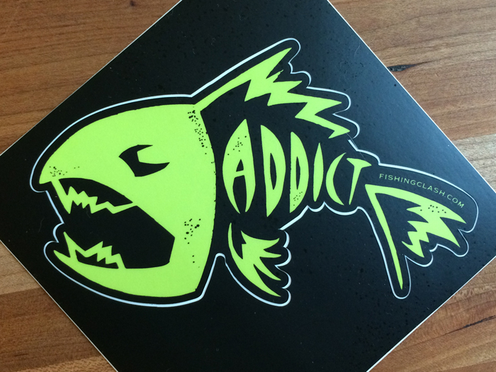 Fishing Clash fishingclash.com Fishing Addict Sticker